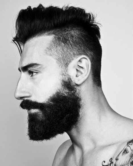 Dapper Gentlemen With Mohawk Side Parted Hairstyle
