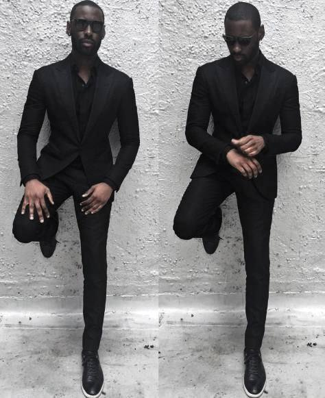 Dapper Guys All Black Outfits Mens Professional Suit Styles