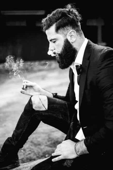 Dapper High Fade Mens Thick Hairstyle