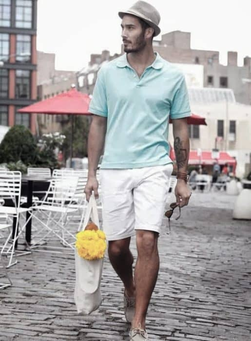 Dapper How To Wear Mens Boat Shoes Outfits Summer Style With Teal Polo And White Shorts
