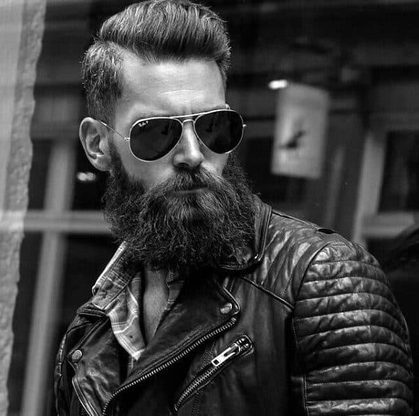 Dapper Man With Old School Haircut And Beard