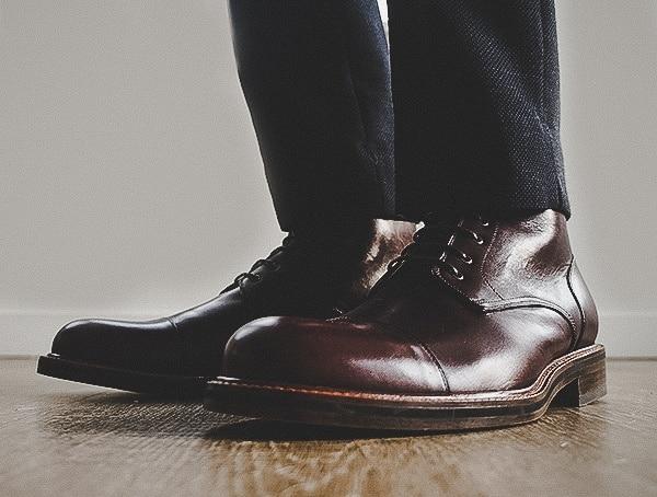 Dapper Mens Beckett Simonon Dowler Cap Toe Boots