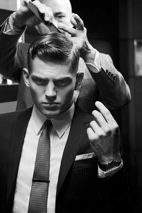 Dapper Mens Fashionable Old School Hairstyle Ideas