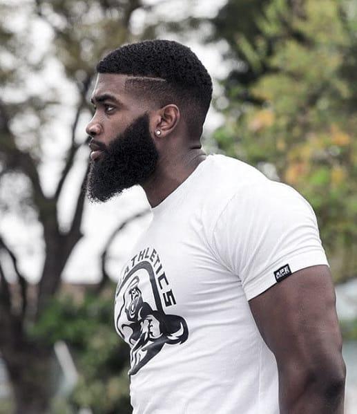 Dapper Short Hair And Full Beard Styles For Black Men