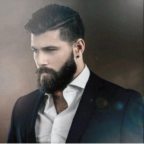 Dapper Slick Mens Beard With Classy Style