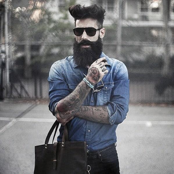 Dapper Slick Mens Beard With Nice Style