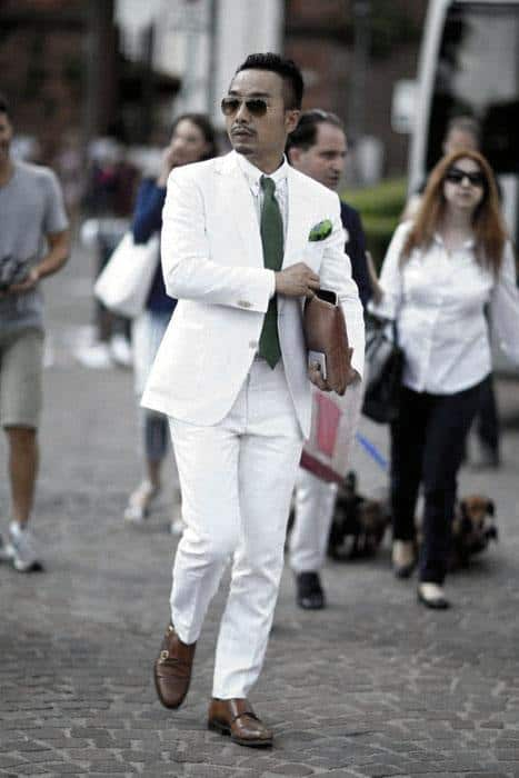 Dapper Suit Business Professional All White Outfits For Men