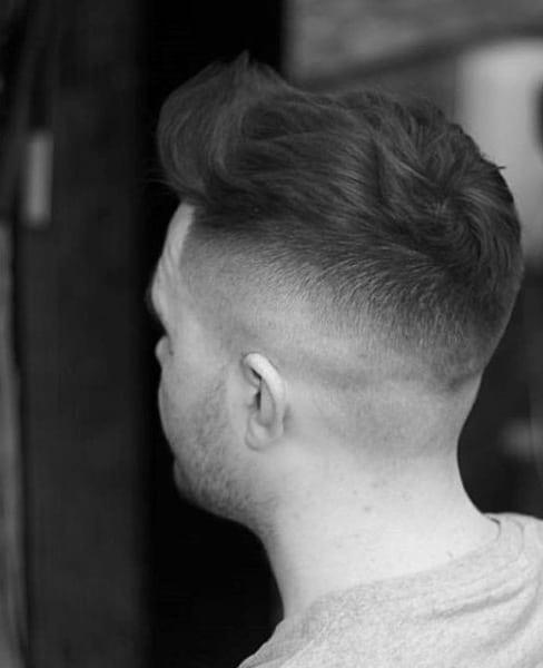 Dapper Wavy Mens Short Fade Haircuts