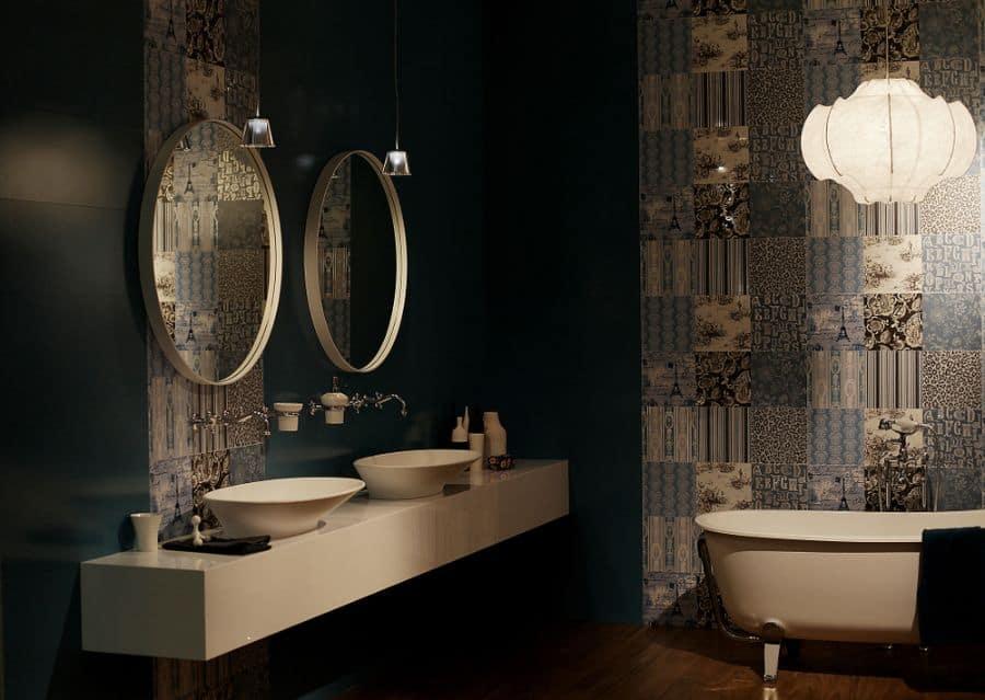 Dark Bathroom Wallpaper Ideas 1