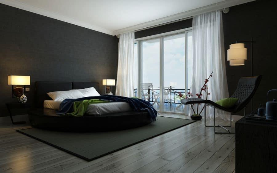 dark black and white bedroom ideas 3