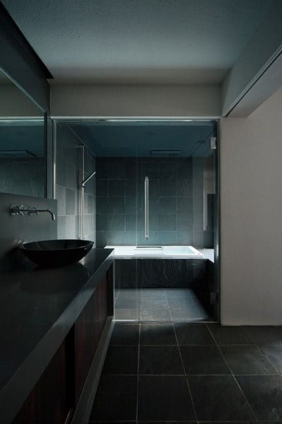 Dark Black Bathroom Design