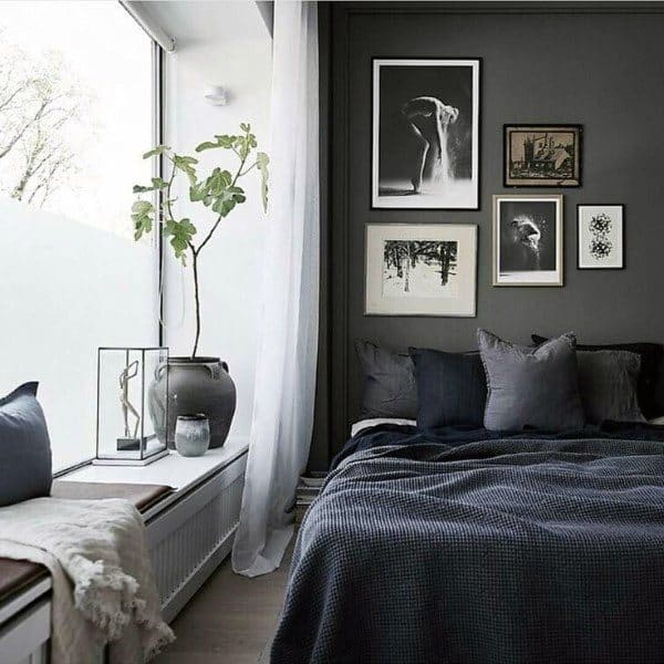 Top 50 Best Black Bedroom Design Ideas Dark Interior Walls