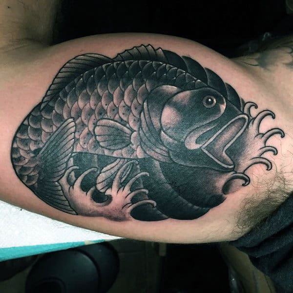 Tribal largemouth bass tattoos