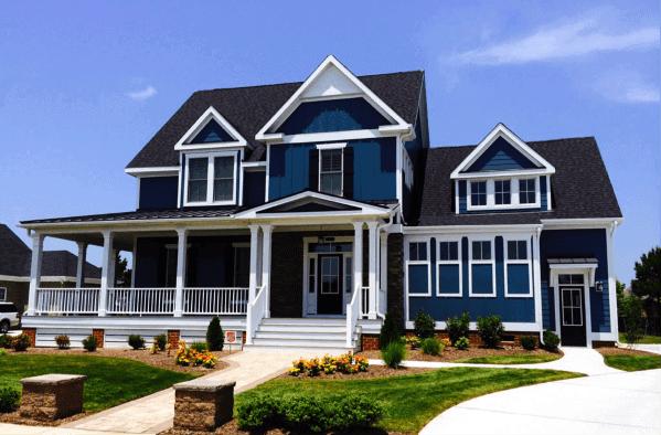 Dark Blue Exterior Designs House Siding