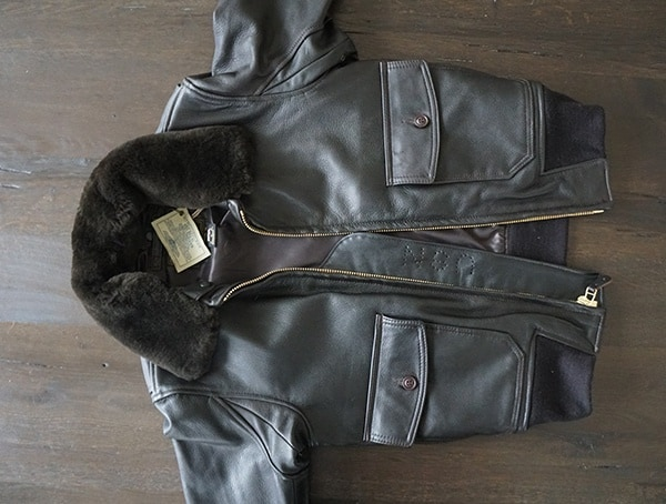 Dark Brown Goatskin Leather Mens Jacket Cockpit Usa G 1 Flight With Removeable Collar