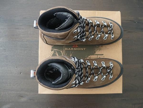 Dark Brown Mens Hiking Garmont Dakota Lite Gore Tex Boots Top View