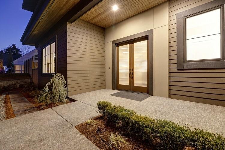 Dark Brown Modern Exterior Window Trim