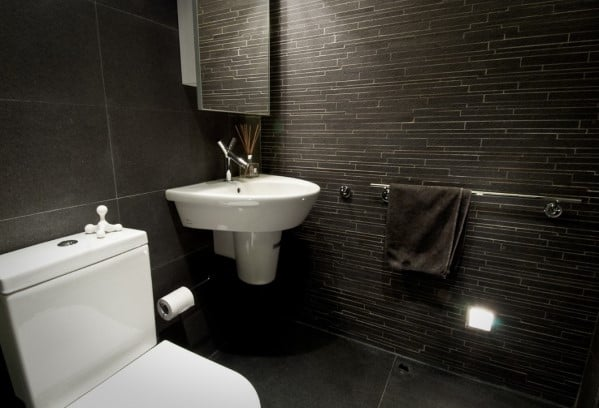 Cool Dark Color Bathroom Design