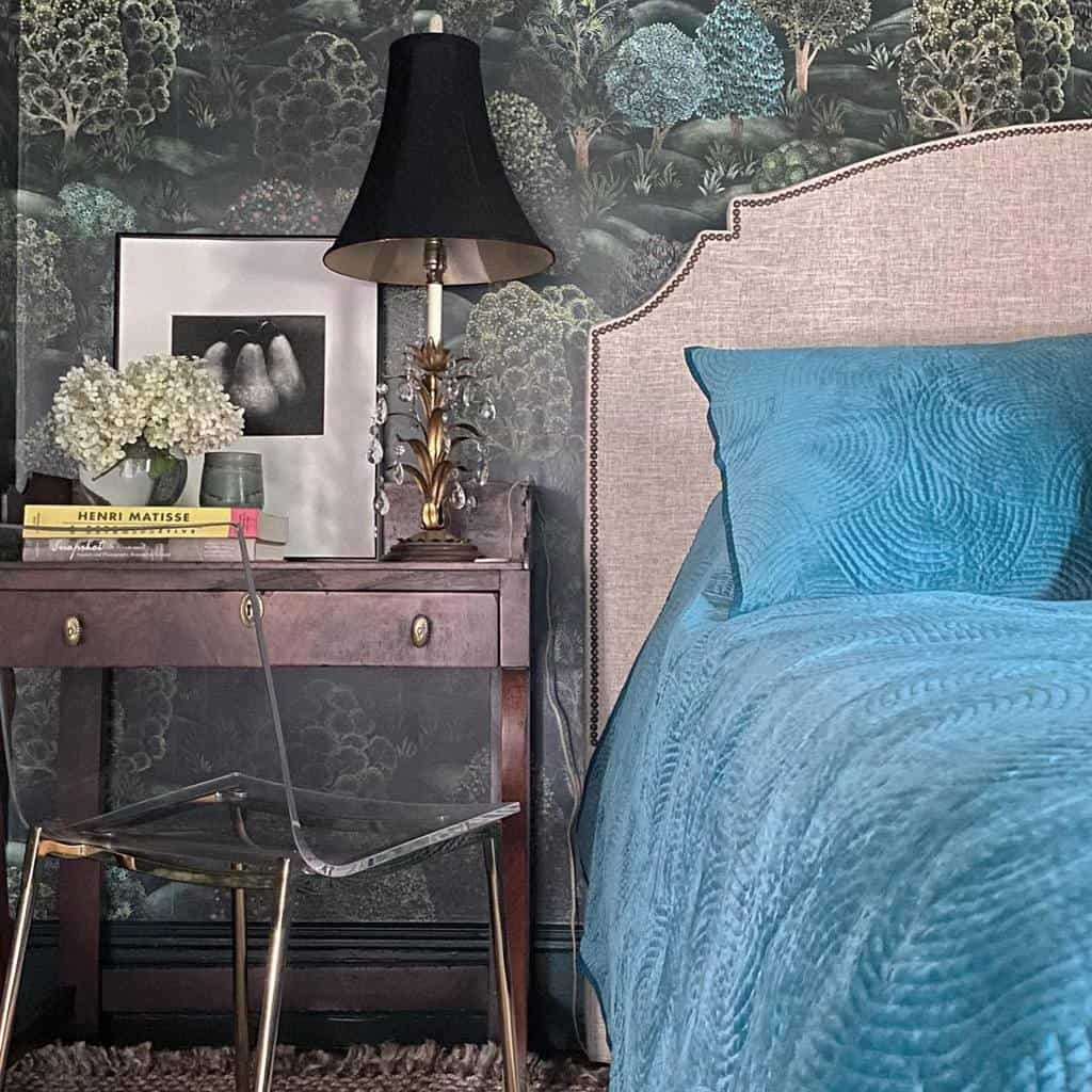 dark colored bedroom wallpaper ideas homedekostudio