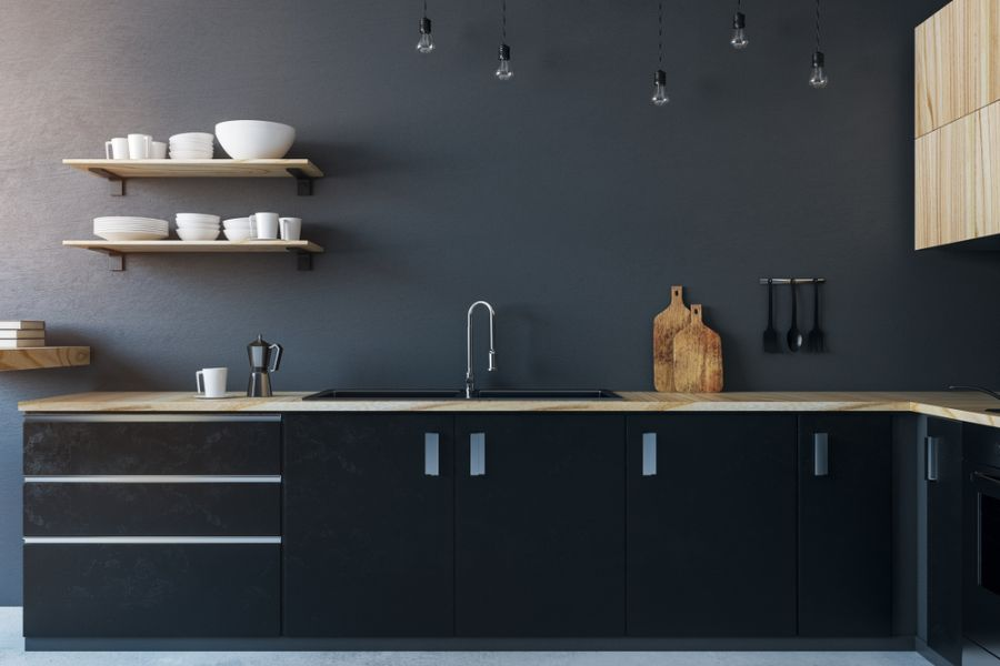 Dark Colored Wall Kitchen Paint Colors 2