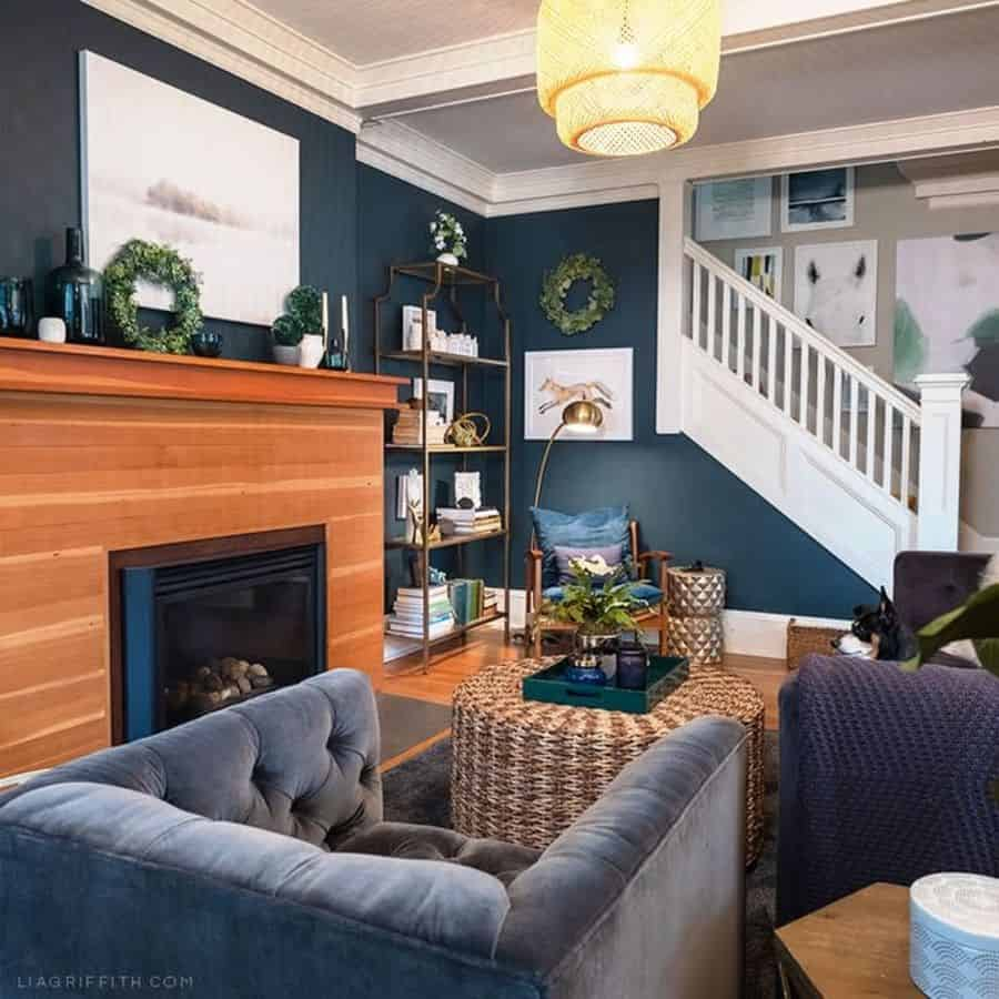 Dark Colors Living Room Paint Ideas Liagriffith