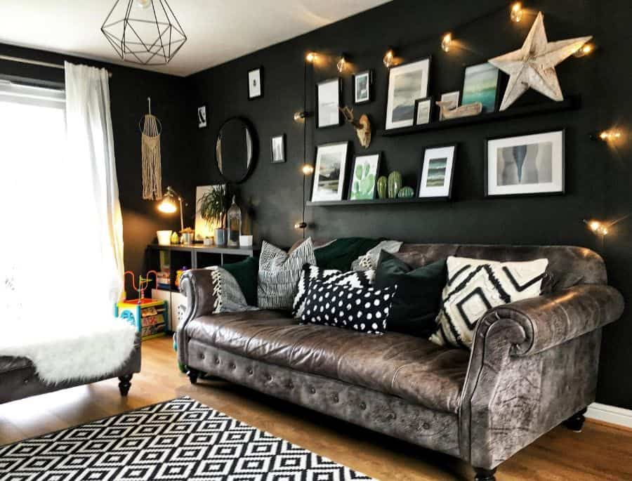 Dark Colors Living Room Paint Ideas Lust Life Designs