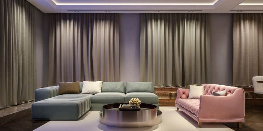 Dark Coloured Living Room Curtain