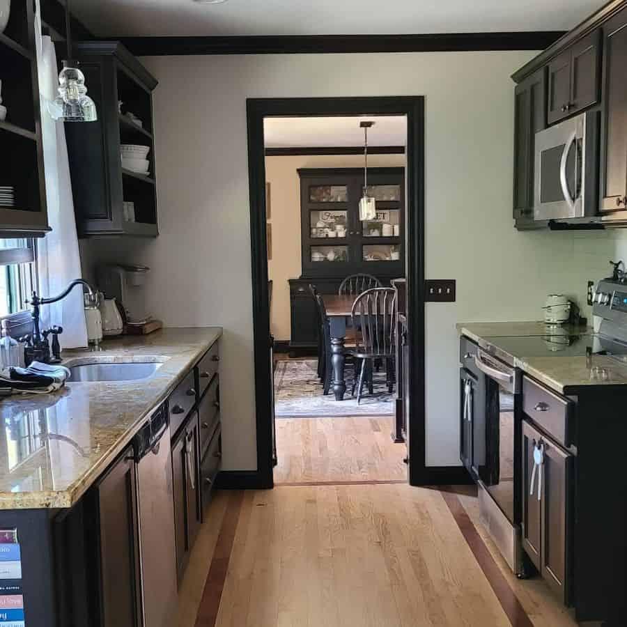 dark galley kitchen ideas owenfamilysix