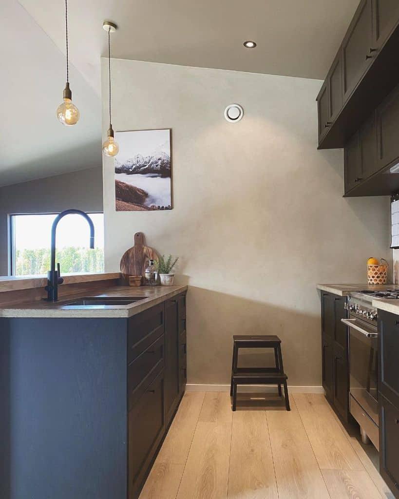 dark galley kitchen ideas villaulla