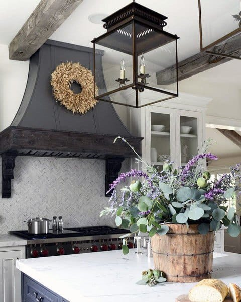Dark Grey And White Rustic Kitchen Ideas