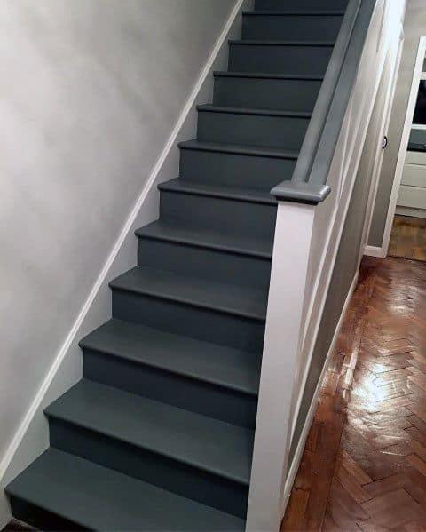 Dark Grey Excellent Interior Ideas Painted Stairs