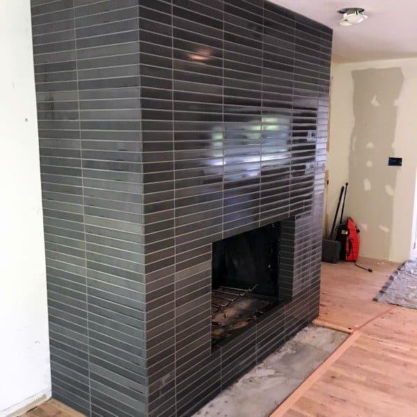 Dark Grey Fireplace Tile Ideas