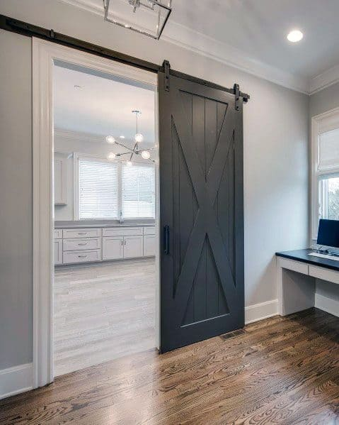 White Walls Black Trim And Doors