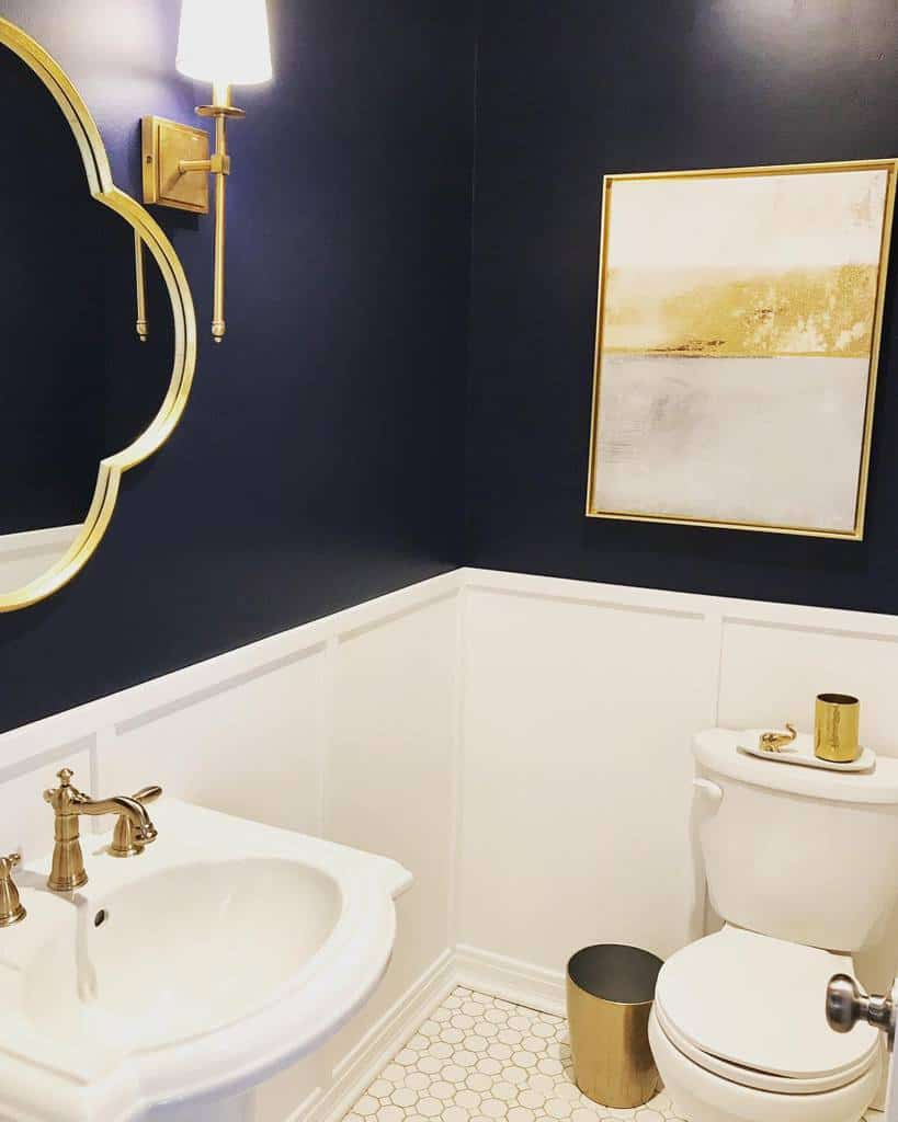 Dark Guest Bathroom Ideas Theredfernhome