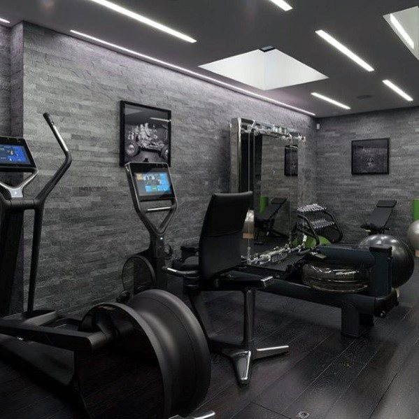 Dark Hardwood Good Ideas For Home Gym Floorings