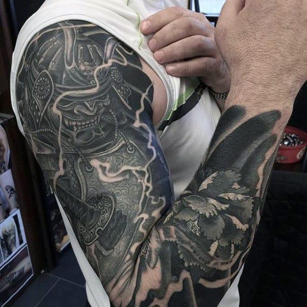 60 Samurai Helmet Tattoo Designs For Men - Japanese Ink Ideas