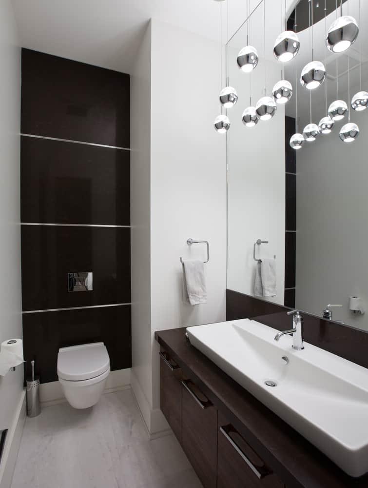 Dark Interior Powder Room Ideas 1