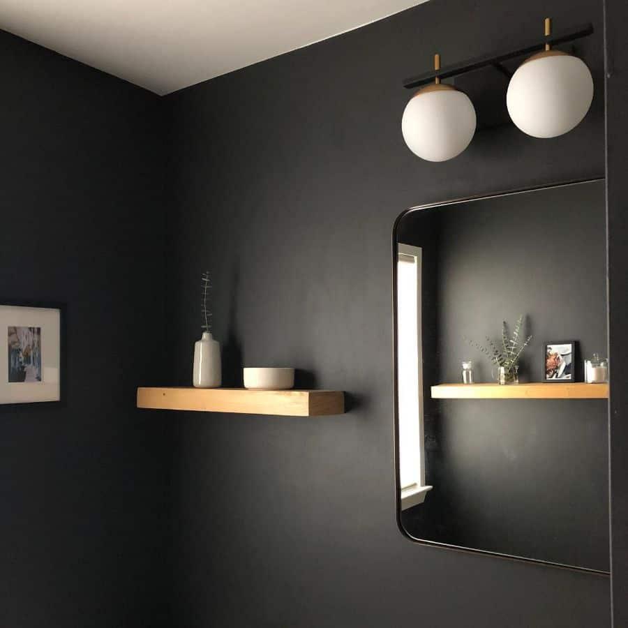 Dark Interior Powder Room Ideas Juneroko Interiors