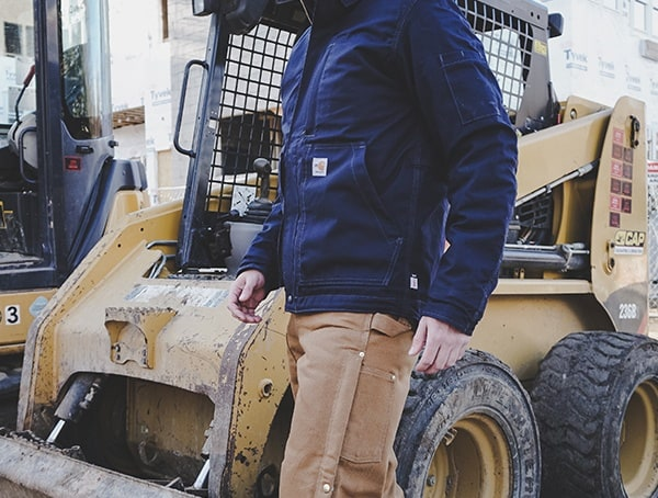 Dark Navy Mens Carhartt Full Swing Quick Duck Flame Resistant Lanyard Access Jacket Review