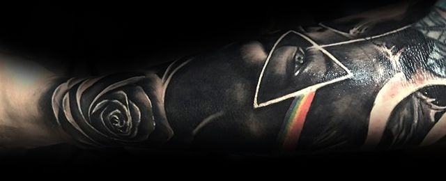 Dark Side Of The Moon Tattoo Designs For Men