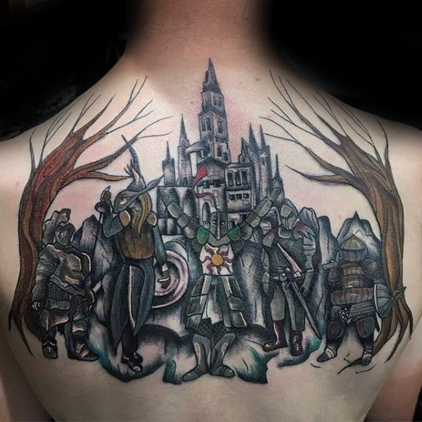 70 Dark Souls Tattoo Designs For Men – Video Game Ideas