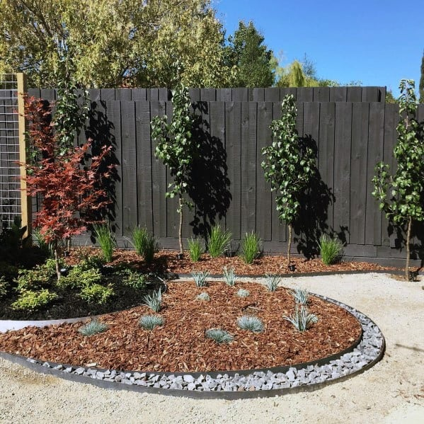 Dark Stained Wood Ideas For Home Privacy Fence