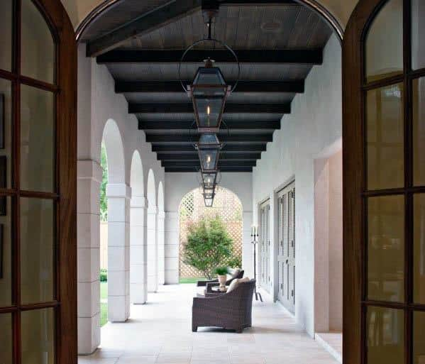 Dark Stained Wood Outdoor Ideas Patio Ceiling