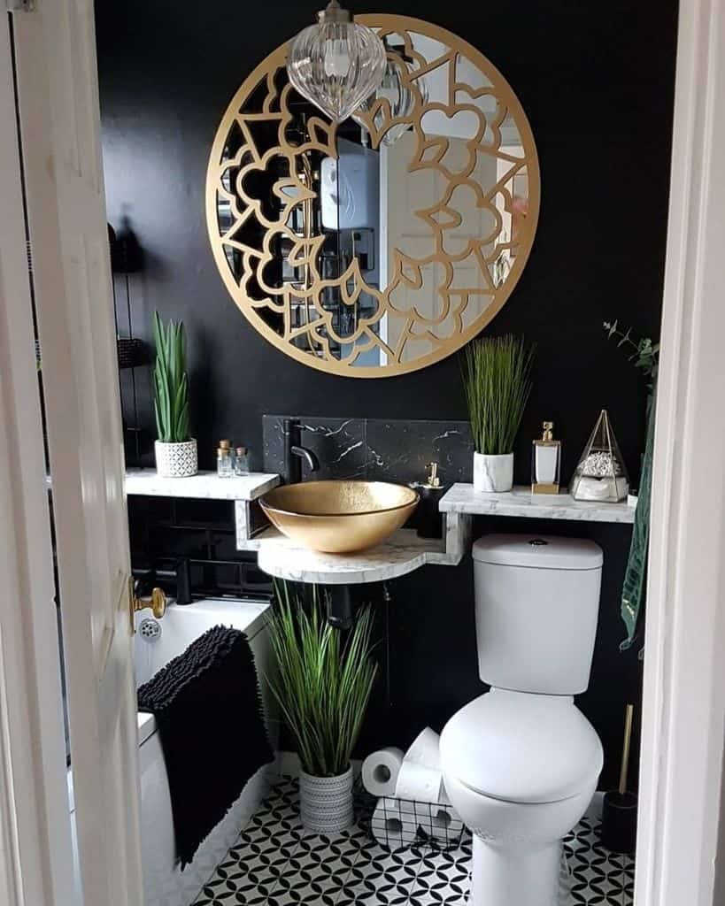 Dark Tiny Bathroom Ideas Bungalow And Bargains