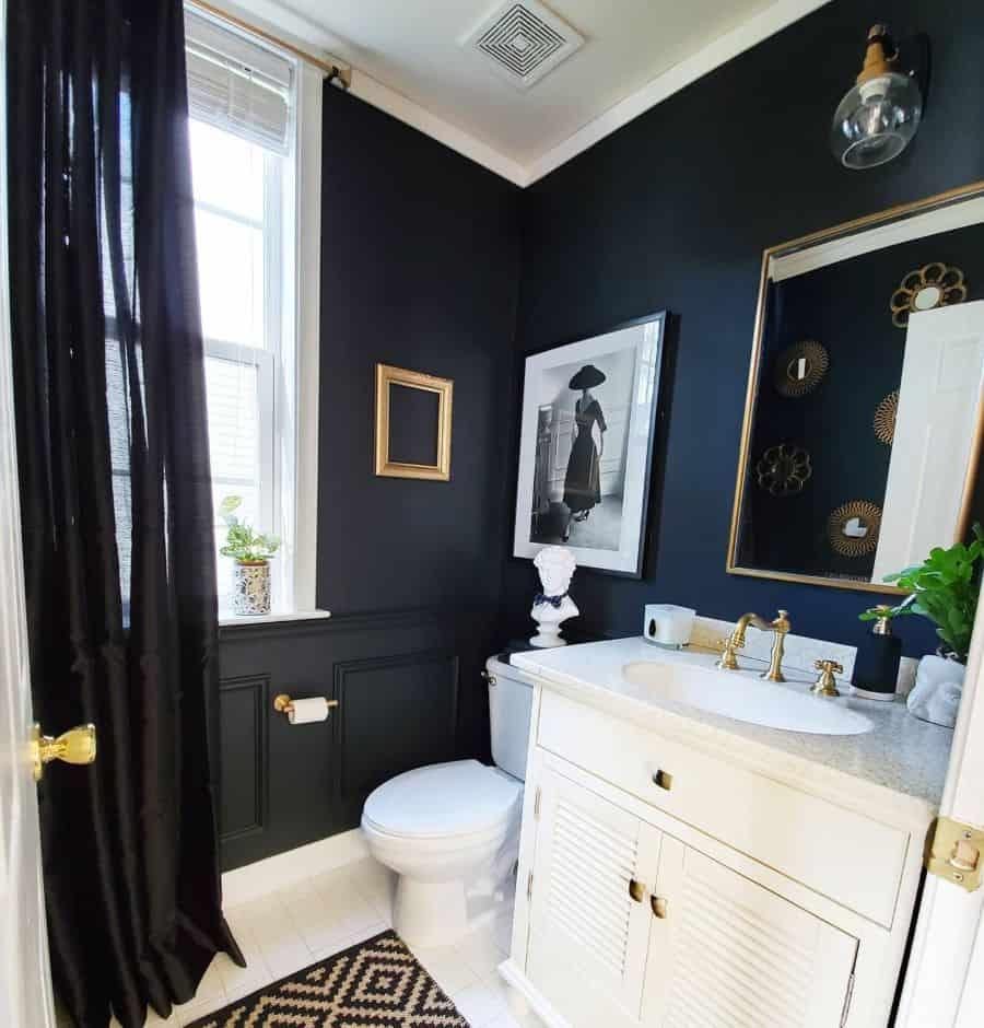 Dark Tiny Bathroom Ideas Georginashomedecor