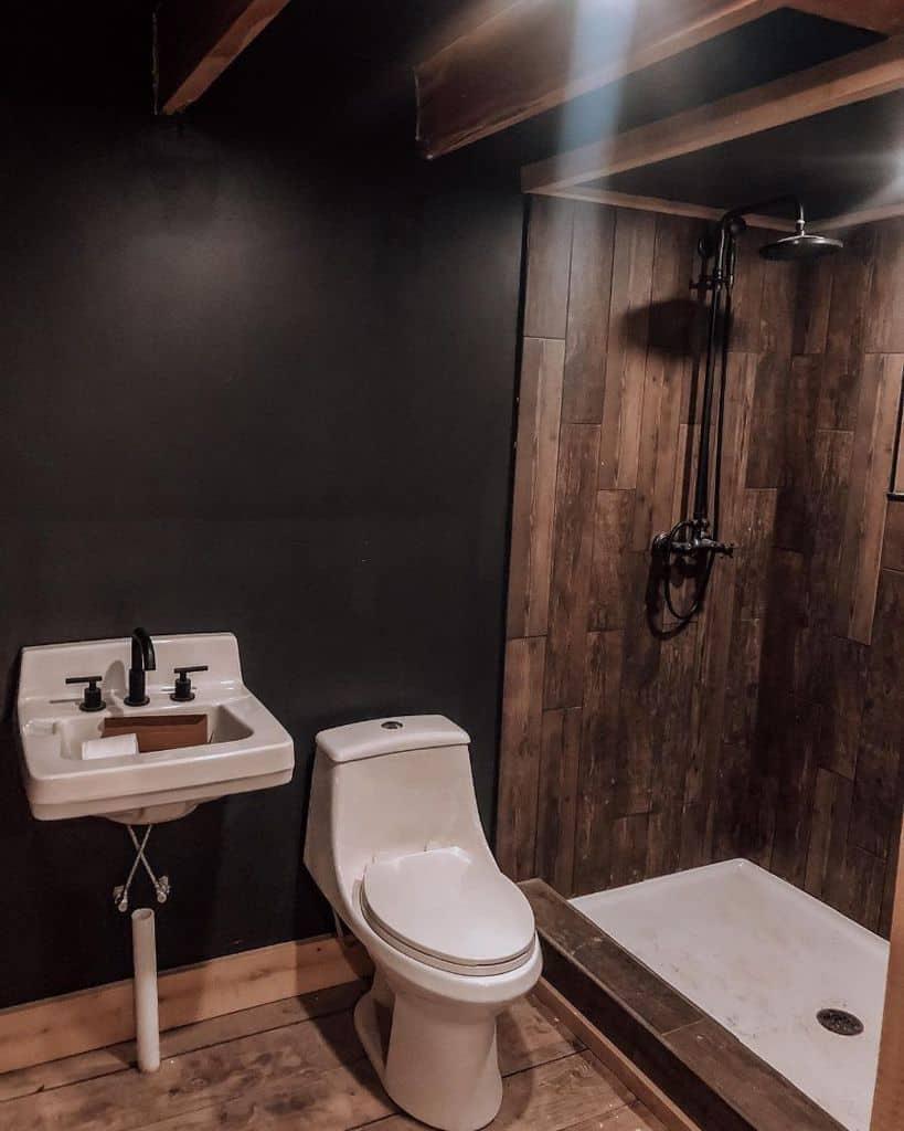 Dark Tiny Bathroom Ideas Littlerivertinyhouse
