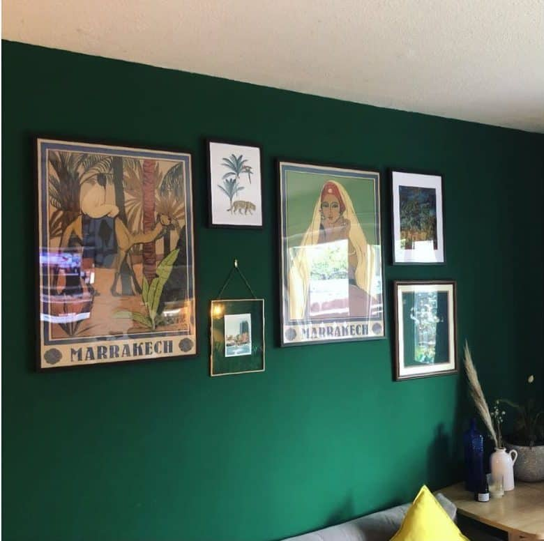 Dark Wall Picture Wall Ideas Little London Home And Garden