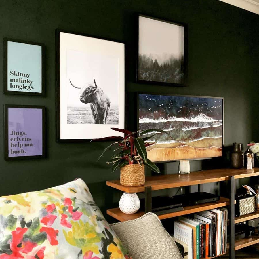 Dark Wall Picture Wall Ideas Nikkisclark