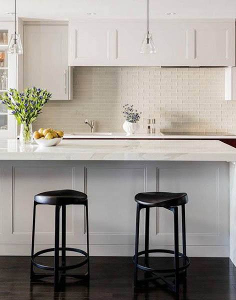 Dark Wood Flooring White Kitchen Cabinet Modern Designs