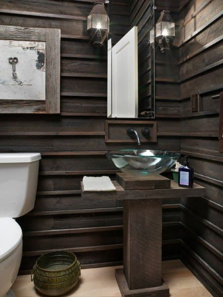 Dark Wood Wainscoting Ideas Bathroom